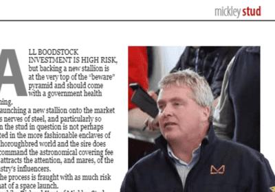 Mickley Featured in International Thoroughbred Magazine